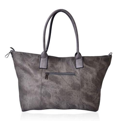 Grey Colour Weekend Bag with External Zipper Pocket (Size 52x36x29x16 Cm)