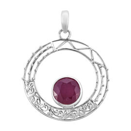 Bali Legacy Collection African Ruby (Rnd) Pendant in Sterling Silver 5.550 Ct, Silver wt 3.20 Gms