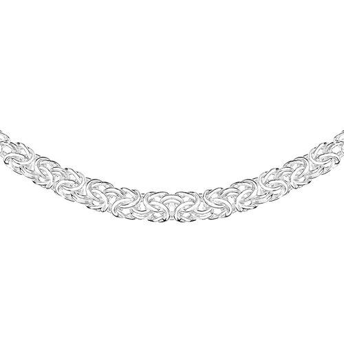 Sterling Silver Byzantine Necklace (Size 18), Silver wt 11.40 Gms.