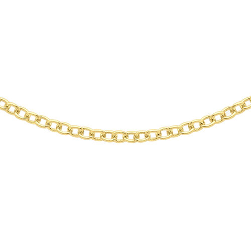 ILIANA 18K Yellow Gold 40 Trace Chain (Size 16)