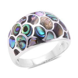 One Time Deal- Royal Bali Collection- Abalone Shell Ring in Sterling Silver