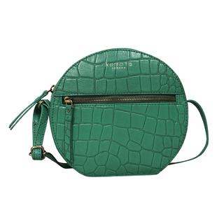 ASSOTS LONDON JANE Genuine Leather Round Croc Crossbody Bag - Green
