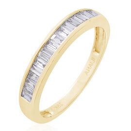 ILIANA 18K Yellow Gold IGI Certified Diamond (Bgt) (SI/G-H) Ring 1.000 Ct.