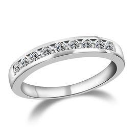 RHAPSODY 950 Platinum IGI Certified Diamond (Rnd) (VS/E-F) Half Eternity Band Ring 0.500 Ct. Platinu