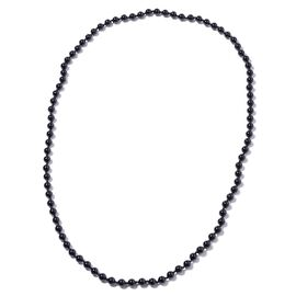 333 Ct Black Agate Beaded Necklace 36 Inch