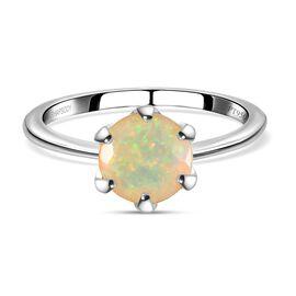 RHAPSODY 950 Platinum AAAA Ethiopian Welo Opal (Rnd) Solitaire Ring 0.750 Ct.