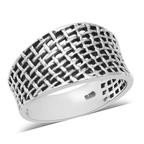 Weave Net Ring in Sterling Silver