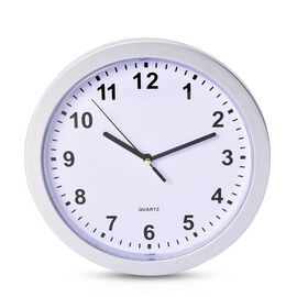 Home Decor - Wall Clock with Three Hidden Compartments (Size 23.50 Cm) - Silver