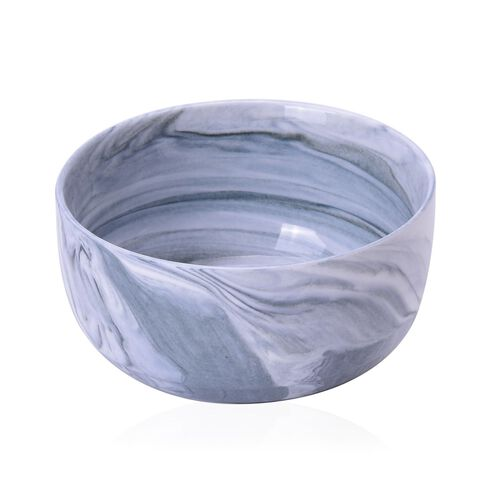 Super Auction-Set of 4 - Grey and White Colour Marble Pattern Ceramic Bowl (Size 10.5X5 Cm)