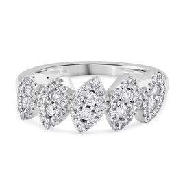 NY Close Out Deal - 10K White Gold Diamond (I1/G-H) Ring 0.50 Ct