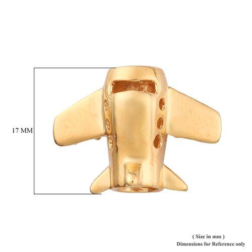 Charmes De Memoire - 14K Gold Overlay Sterling Silver Plane Charm