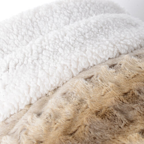 Deluxe Collection- High Quality Warm Walnut Faux Fur Sherpa Blanket (150x200 cm)