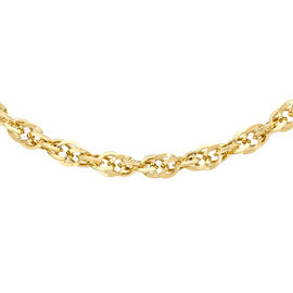 One Time Close Out Deal Diamond Cut Prince of Wales Necklace in 9K Yellow Gold 20 Inch