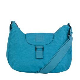 Artsac - Blue Colour Small Scoop Top Crossbody Bag (Size 260 x210 x80 mm)