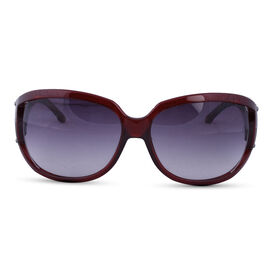 MAX MARA Red Oversized Sunglasses with Grey Lenses