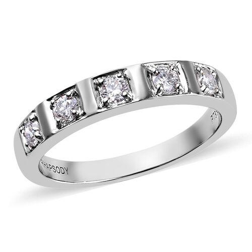 RHAPSODY 950 Platinum Natural IGI Certified Diamond (VS/E-F) Band Ring 0.33 Ct, Platinum wt. 5.91 Gm