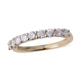 New York Close Out - 14K Yellow Gold (I1-I2/G-H) Diamond (Rnd) Half Eternity Band Ring 0.750 Ct. Rin