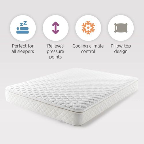 Serenity Pillowtop Pocket Spring Memory Foam Mattress with Vitafoam REVO Technology - Depth 24cm + Pillowtop (3cm) - Made in UK - Size King