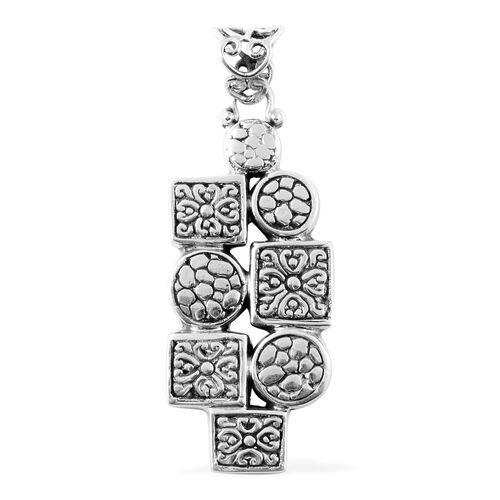 Artisan Crafted Pebble Texture Pendant in Sterling Silver 10.80 Grams