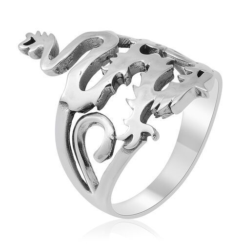 Sterling Silver Dragon Ring, Silver wt 4.50 Gms
