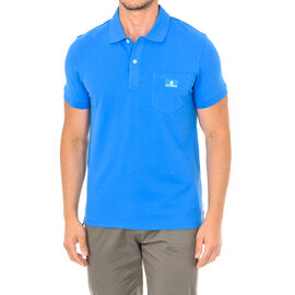 Karl Lagerfeld Mens Basic Polo Short Sleeve T-Shirt in Blue Colour