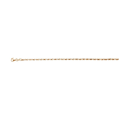 Chain Necklace in Rose Gold Plated Silver 17.50 Grams 32 Inch