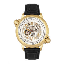 Reign Thanos Automatic Movement Skeleton Dial Water Resistant Watch with Stainless Steel Case and Ge