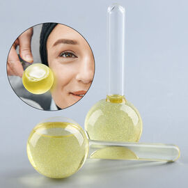 Set of 2 - Facial Massage Ice Globes (Size:13x3Cm) - Champagne