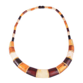 20 Inch Multi Colour Amber Collar Necklace 110 Ct
