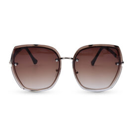 Eyecatcher Brown Sunglasses with Graduate Tinted Lens