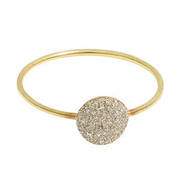 Italian Made - 9K Yellow Gold Spritz Dust Ring