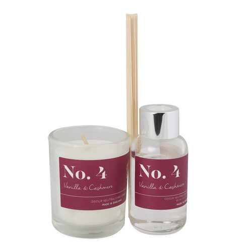 Wax Lyrical Gift Bag Includes Odour Neutralising Reed Diffuser (40ml) and Candle (66g) -  Vanilla an
