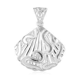 Fan Pendant in Sterling Silver 4.50 Grams