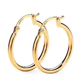 9K Yellow  Gold Supreme Shiny Finish Hoop Earring