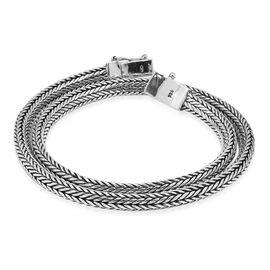Royal Bali Collection Sterling Silver Tulang Naga Necklace (Size 18), Silver wt 84.75 Gms.