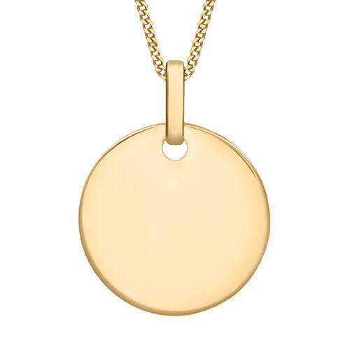 Personalised 9k Gold Disc Pendant