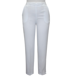 White Linen Cropped Trousers
