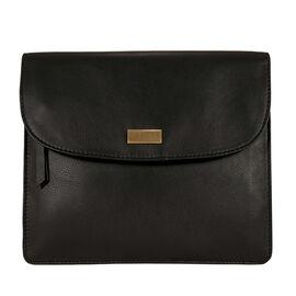 Assots London OSLO Leather Crossbody Bag in Black (Size 22x25cm)