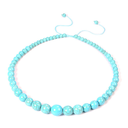 Blue Howlite Beaded Necklace (Size 18-25) 279.00 Ct.