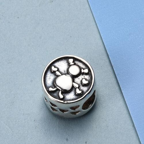 Charmes De Memoire Platinum Overlay Sterling Silver Kid Charm