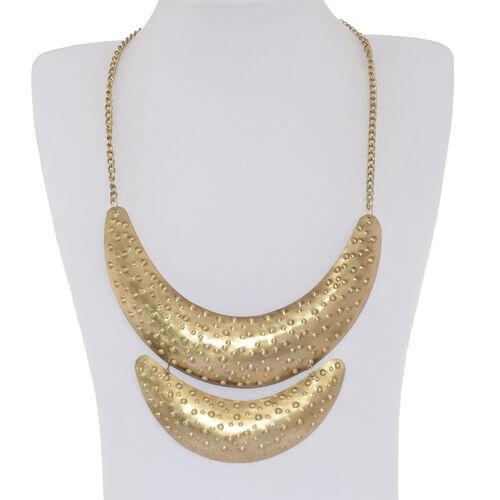 Fancy Choker Necklace (Size 21) in Yellow Gold Bond