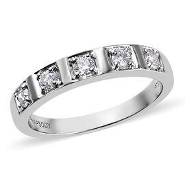 RHAPSODY 950 Platinum Natural IGI Certified Diamond (VS/E-F) Band Ring 0.30 Ct, Platinum wt. 5.44 Gm