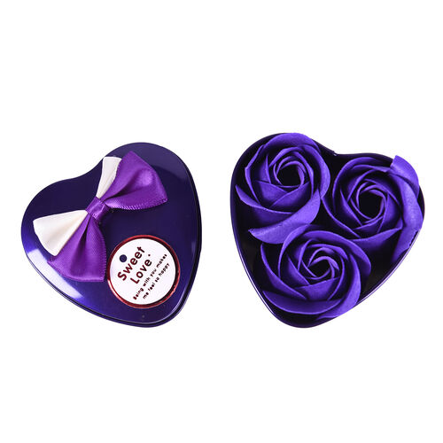 Bouquet of flowers -  Imitation Soap Rose in a Box - Purple