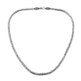Royal Bali Collection Sterling Silver Borobudur Necklace (Size 20), Silver wt 30.10 Gms