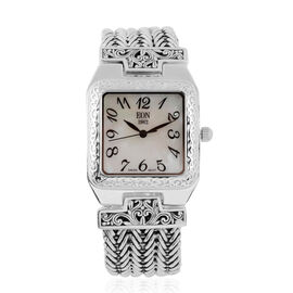 Royal Bali Collection EON 1962 Swiss Movement Water Resistant Watch (Size 7) in Sterling Silver, Sil