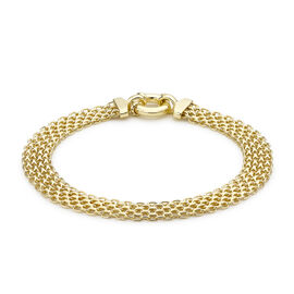 9K Yellow Gold Bismark Bracelet (Size 7.5) wit Senorita Clasp, Gold wt 5.50 Gms