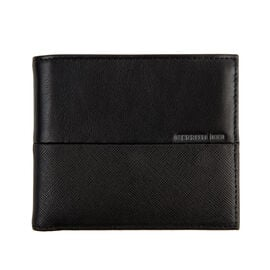 CERRUTI 1881 - 100% Genuine Leather Black Colour Wallet (Size 11x9.5 Cm)