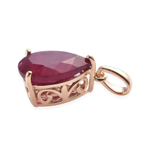 9K Yellow Gold AAA African Ruby Pendant 4.00 Ct.
