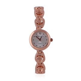 DIAMOND & CO LONDON- Diamond Studded Bracelet Watch in Rose Gold Tone