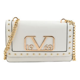 19V69 ITALIA by Alessandro Versace Crossbody Bag Detachable with Chain Strap (Size 27x6x17Cm) - Whit